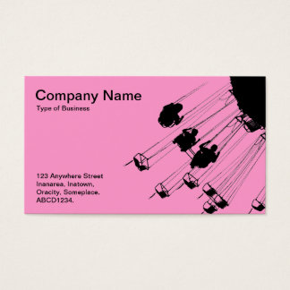 Swings and Roundabouts - Pink Business Card