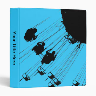 Swings and Roundabouts - Sky Blue 3 Ring Binder