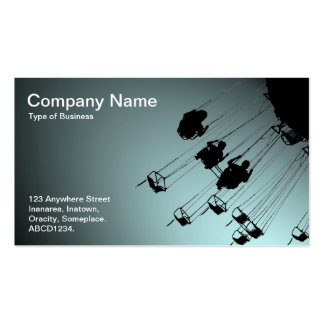 Swings and Roundabouts - Spotlit Pale Blue Business Card Template