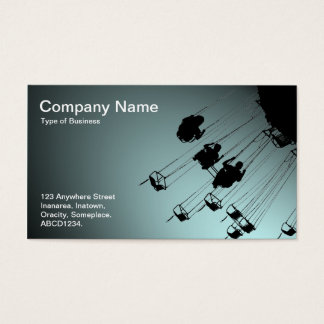 Swings and Roundabouts - Spotlit Pale Blue Business Card