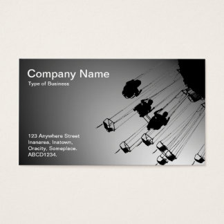 Swings and Roundabouts - Spotlit White Business Card