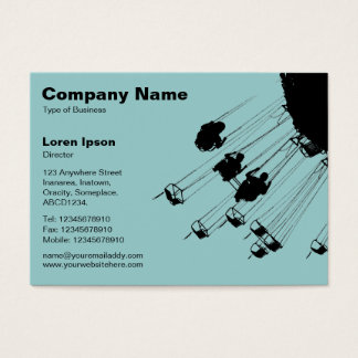 Swings and Roundabouts v2 - Light Blue Green Business Card