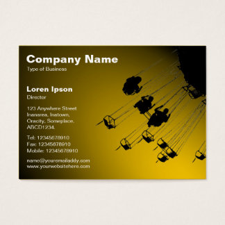 Swings and Roundabouts v2 - Spotlit Amber Business Card