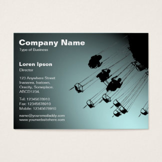 Swings and Roundabouts v2 - Spotlit Pale Blue Business Card