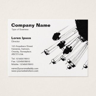 Swings and Roundabouts v2 - White (Gold) Business Card