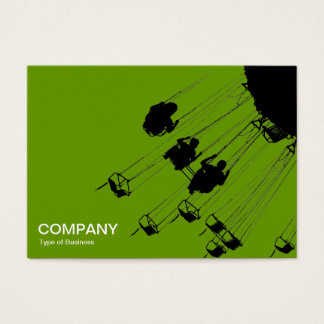 Swings and Roundabouts v3 - Avocado Green Business Card