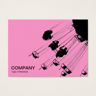 Swings and Roundabouts v3 - Pink Business Card