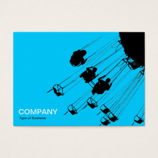 Swings and Roundabouts v3 - Sky Blue Business Card