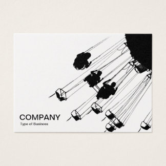 Swings and Roundabouts v3 - White (Gold) Business Card
