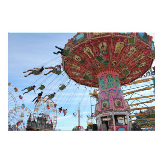 Swings At The Mid-State Fair Photo Print