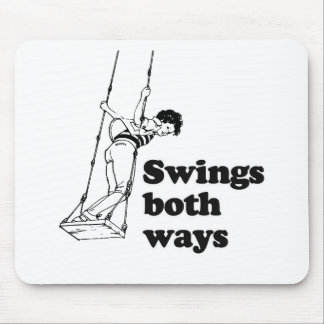 Swings both ways mouse pad