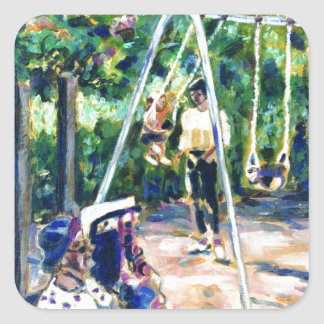 Swings Square Sticker