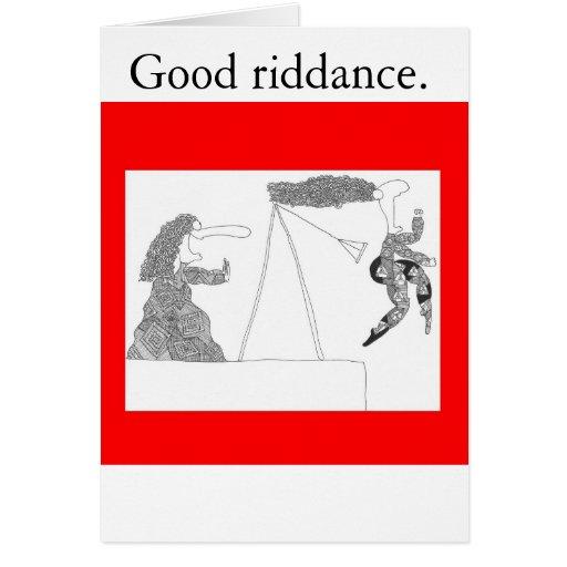 swingset, buena liberación tarjeta de felicitación
