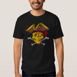 Swipe the Gold black t-shirt with Gold Skull