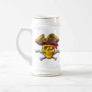 Swipe the Gold gold skull Stein Coffee Mug