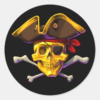 Swipe the Gold sticker Gold Skull black