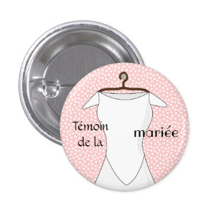 Swipes in pilot of the pink bride with pea long-li pinback button