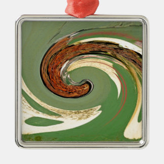Swirl 01.03-Colors of Rust/Rost-Art Metal Ornament