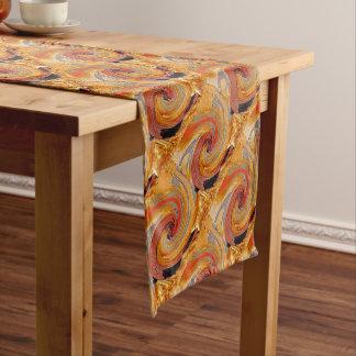 Swirl 02-Colors of Rust/Rust-Art Short Table Runner