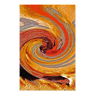 Swirl 02-Colors of Rust/Rust-Art Stationery