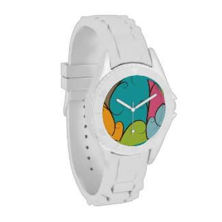 Swirl and Colorblocked Multi-colored Watches