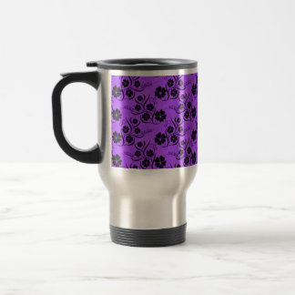 Swirl And Floral 15 Oz Stainless Steel Travel Mug