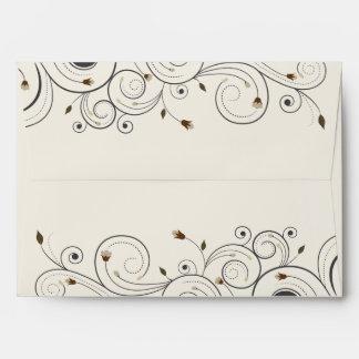 Swirl and Flowers Memorial Keepsake Match Envelope