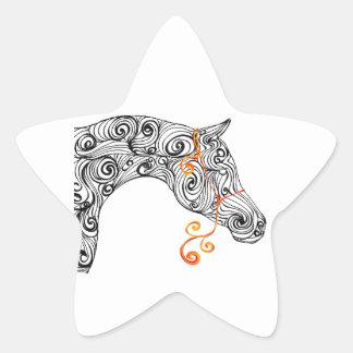 swirl arabian star sticker