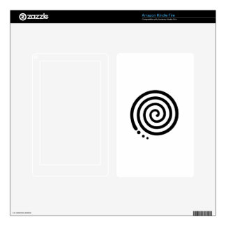 Swirl Art Decal For Kindle Fire
