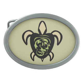 Swirl Back Turtle Belt Buckle