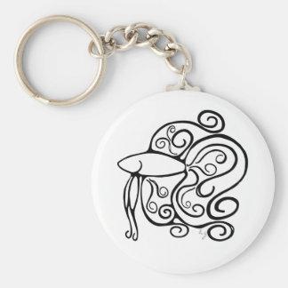 Swirl Betta Fish Basic Round Button Keychain