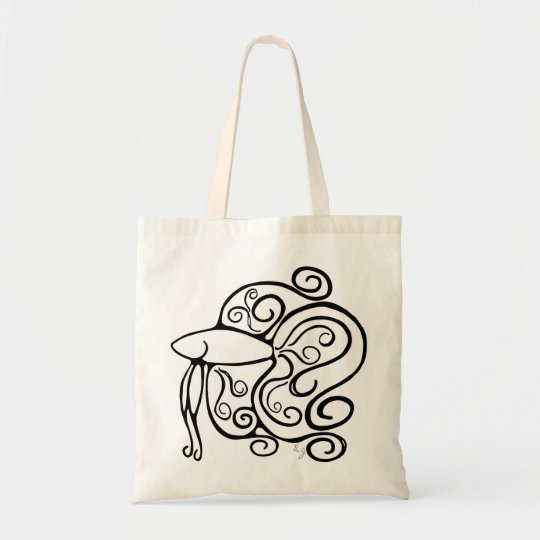 Swirl Betta Fish Tote Bag