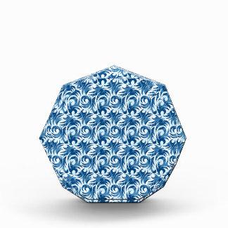 swirl blue colored design acrylic award