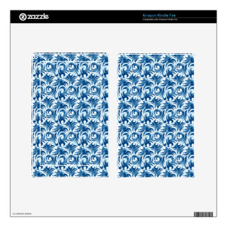 swirl blue colored design kindle fire decals