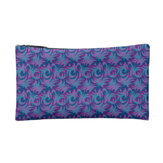 swirl blue colored design makeup bag