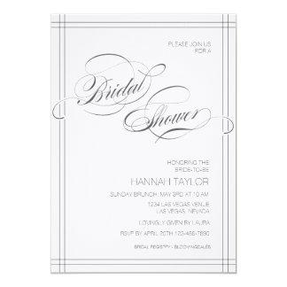 Swirl Bridal Shower Invitations