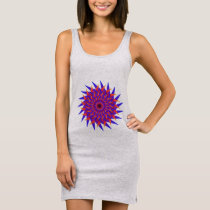 Swirl Burst2 Sleeveless Dress