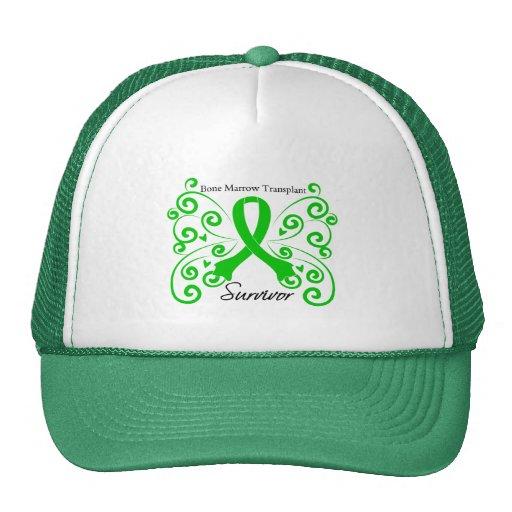 Swirl Butterfly Bone Marrow Transplant Survivor Trucker Hat
