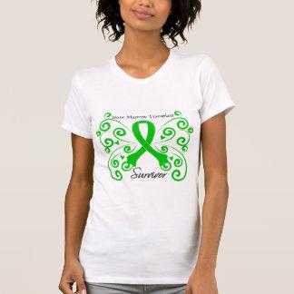 Swirl Butterfly Bone Marrow Transplant Survivor Tee Shirt