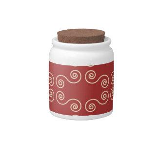 Swirl candy jar