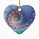 Swirl Ceramic Ornament