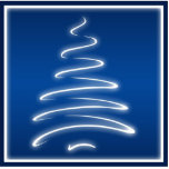 Swirl Christmas Tree Ornament in Blue Photo Cutouts