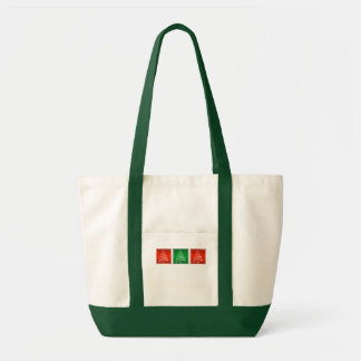 Swirl Christmas Tree Tote in Red and Green Impulse Tote Bag