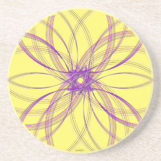 Swirl Coaster Piece3 Purp/Yellow