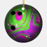 Swirl Colors Bowling Ball Ornaments