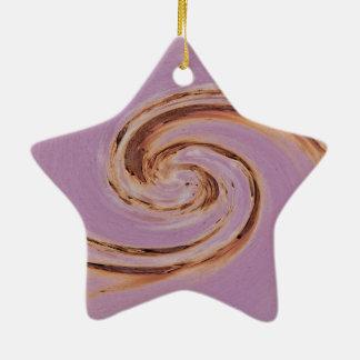 Swirl - Colors OF Rust/kind of rust Ceramic Ornament