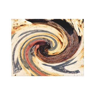 Swirl - Colors of Rust / Rost-Art Canvas Print
