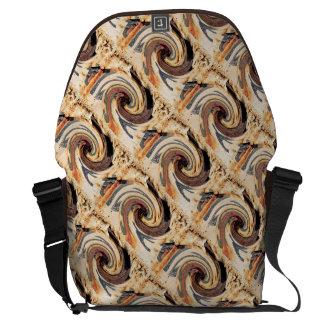 Swirl - Colors of Rust/Rost-Art Messenger Bag