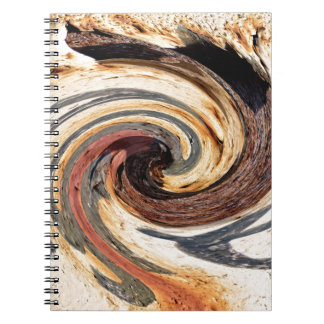 Swirl - Colors of Rust/Rost-Art Spiral Notebooks