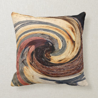 Swirl - Colors of Rust/Rostart Throw Pillow